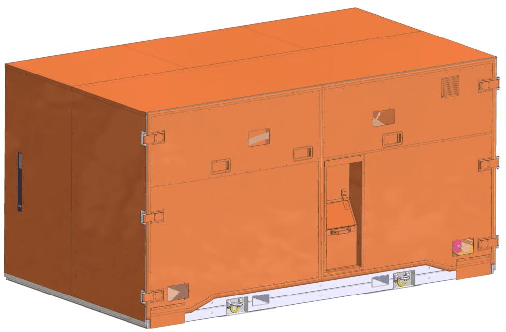Transportbox für empfindliche Güter